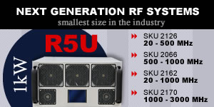 Smallest Size in the Industry 1 kW RF Amplifier Systems