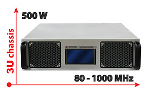80 to 1000 MHz, 500W High Power Amplifier